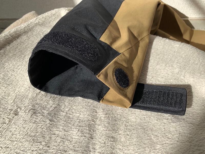 マウンテンジャケットの袖調節機能