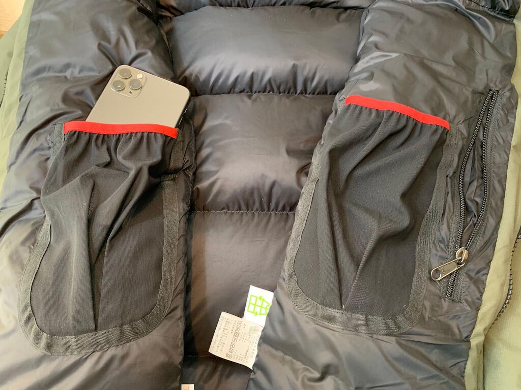 バルトロライトジャケットの内ポケット