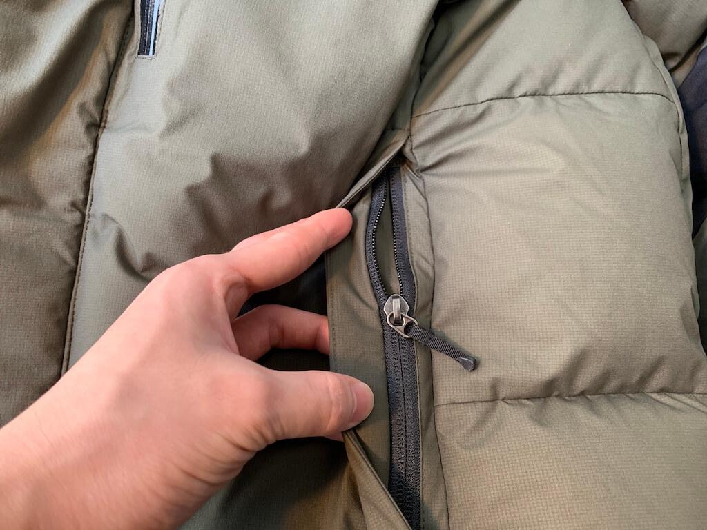バルトロの外ポケットの防水加工
