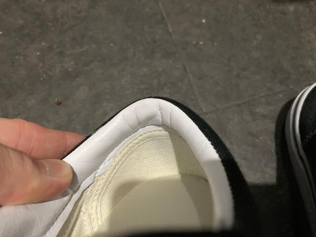 バンズの靴シワが寄ってるか