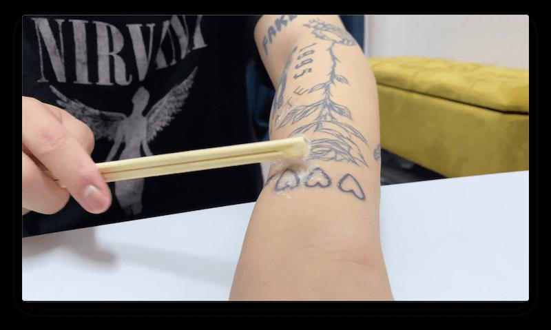 4つのタトゥーハート